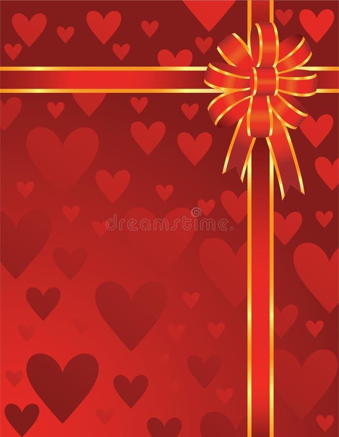 Arco dei biglietti di S. Valentino illustrazione di stock