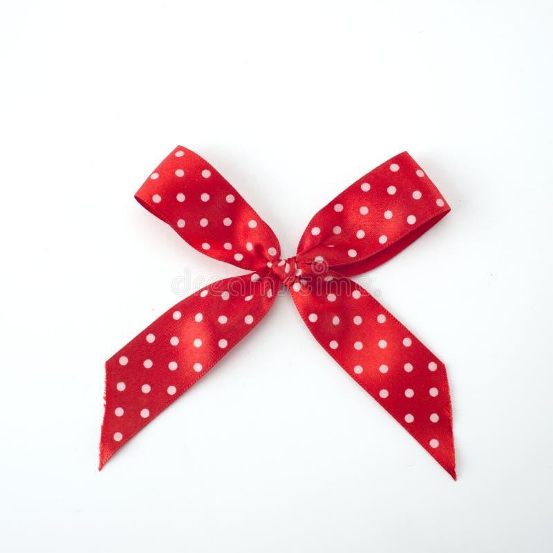Arco dei punti di Polka su bianco immagini stock