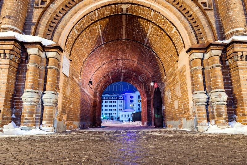 Arco del campanario de la epifanía en Kazán foto de archivo libre de regalías