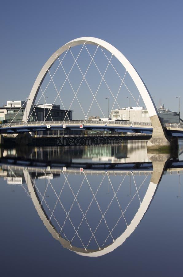 Arco del Clyde o ponticello squinty a Glasgow fotografie stock