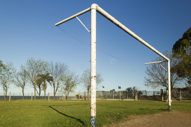 Arco del fútbol foto de archivo