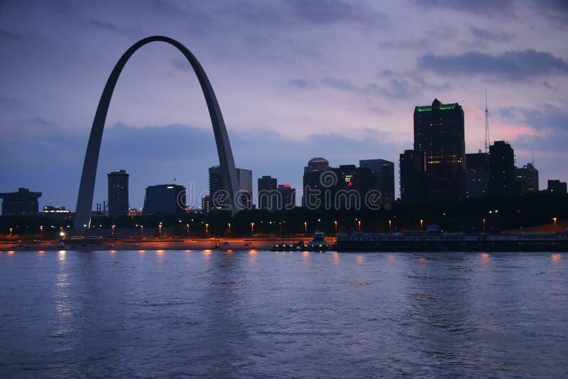 Arco del Gateway de Mississippi imágenes de archivo libres de regalías