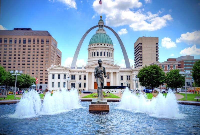 Arco del Gateway de St Louis fotos de archivo