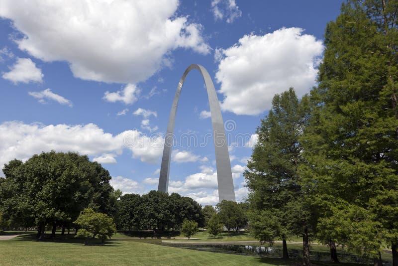 Arco del Gateway di St. Louis immagini stock libere da diritti