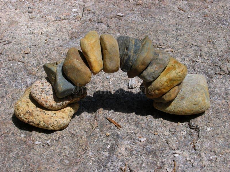 Arco del guijarro foto de archivo libre de regalías