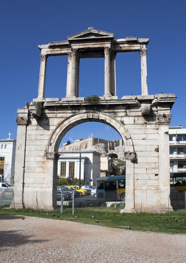 Arco del Hadrian, Atene (Grecia) immagini stock libere da diritti