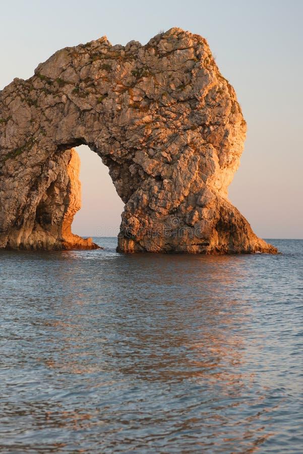 Arco del mare del portello di Durdle, Dorset fotografia stock