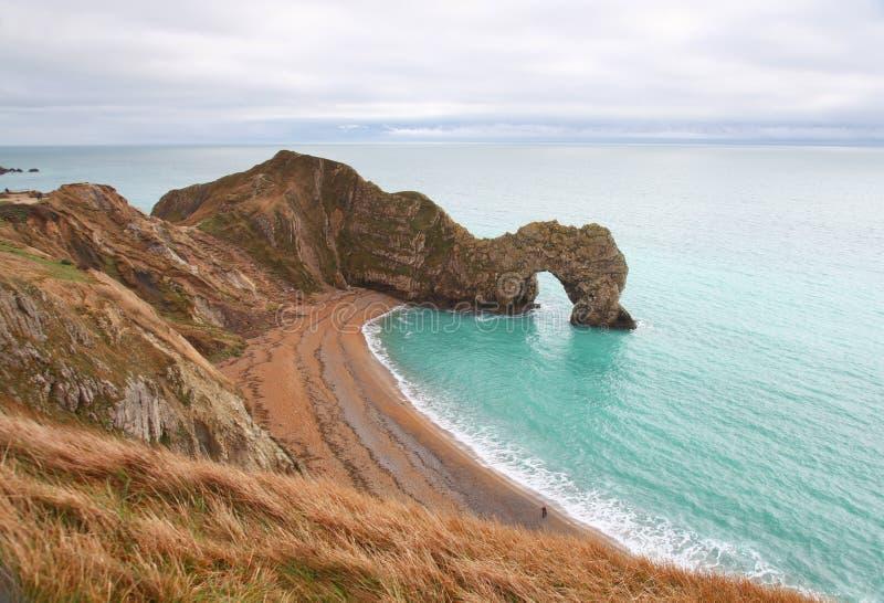 Arco del mare della porta di Durdle in Inghilterra fotografia stock libera da diritti