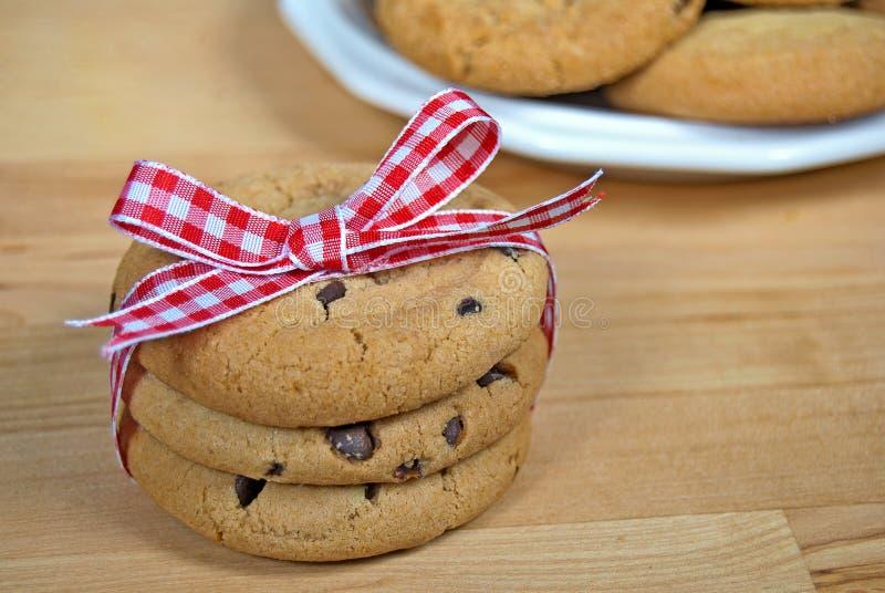 Arco del percalle sui biscotti immagini stock libere da diritti