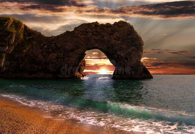 Arco del portello di Durdle, Dorset fotografia stock libera da diritti