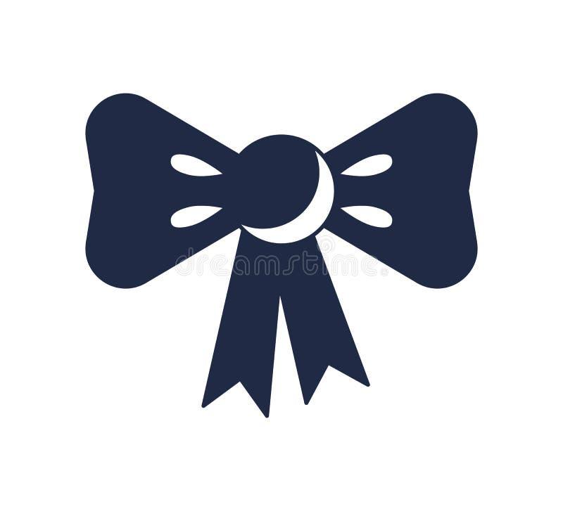 Arco del regalo con el icono del vector de la cinta libre illustration