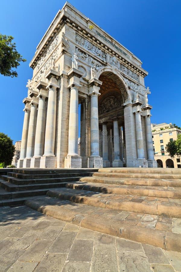 Arco del trionfo a Genova fotografie stock