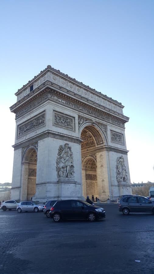 arco del triunfo arkivbild