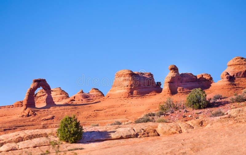 Arco delicado, arcos parque nacional, EUA fotografia de stock royalty free