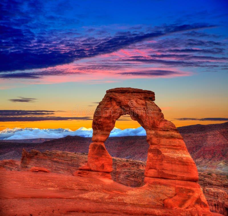 Arco delicado del parque nacional de los arcos en Utah los E.E.U.U. foto de archivo libre de regalías