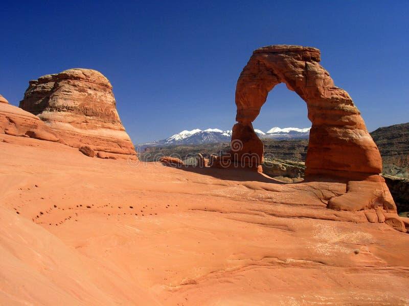 Arco delicado. Parque nacional de los arcos fotografía de archivo libre de regalías