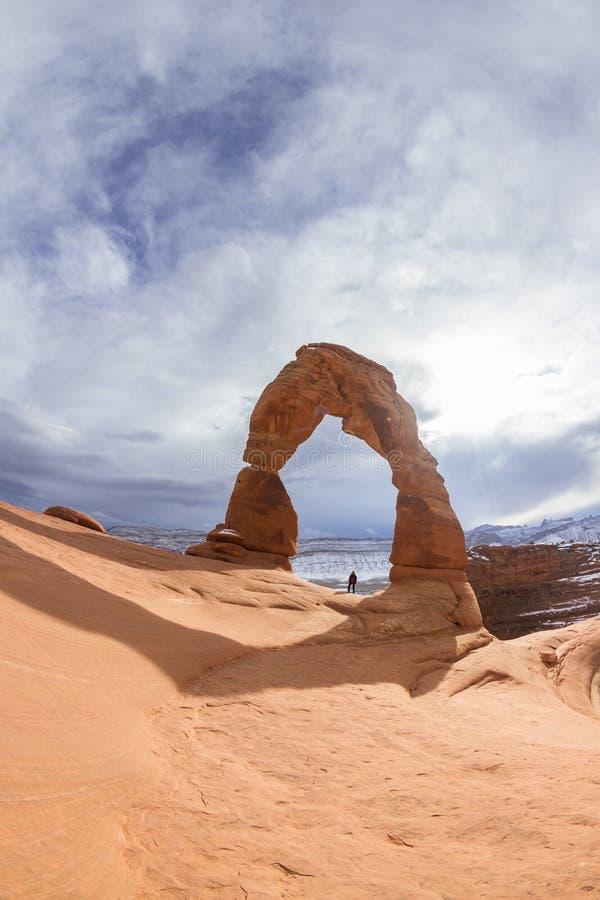 Arco delicado, parque nacional de los arcos imagen de archivo libre de regalías