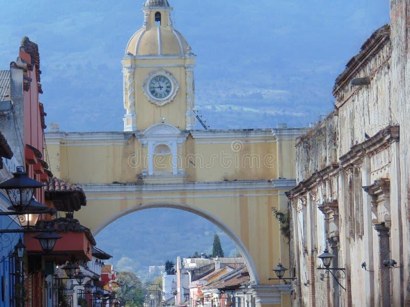 Arco dell'Antigua Santa Catalina immagine stock
