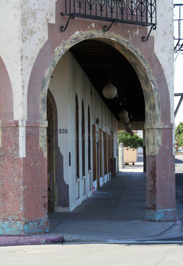 Arco dell'hotel fotografia stock