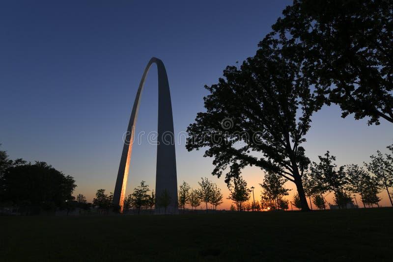 Arco dell'ingresso a St. Louis, Missouri fotografia stock libera da diritti