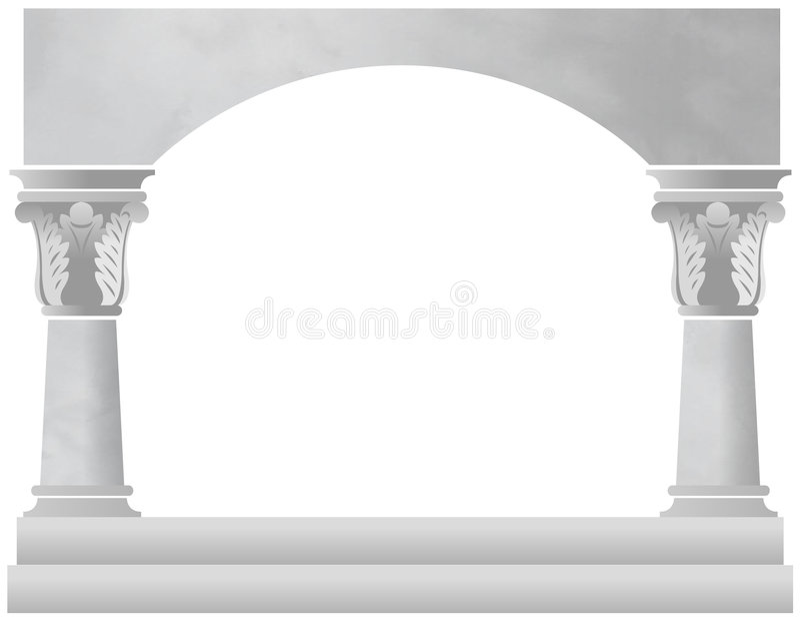 Arco della colonna di marmo illustrazione vettoriale
