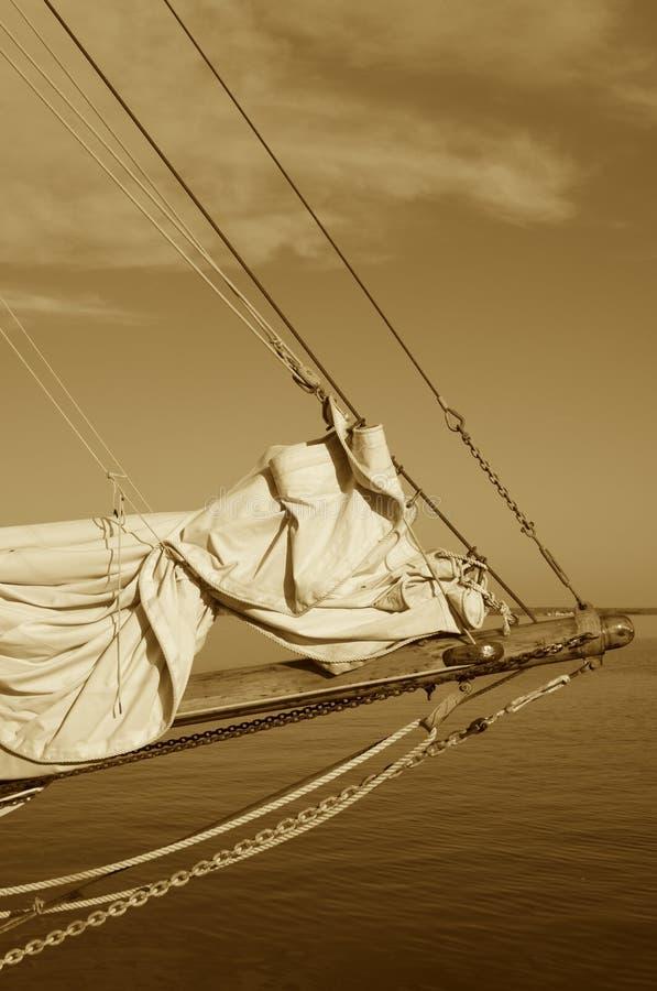 Arco della nave di navigazione dell'annata fotografie stock libere da diritti