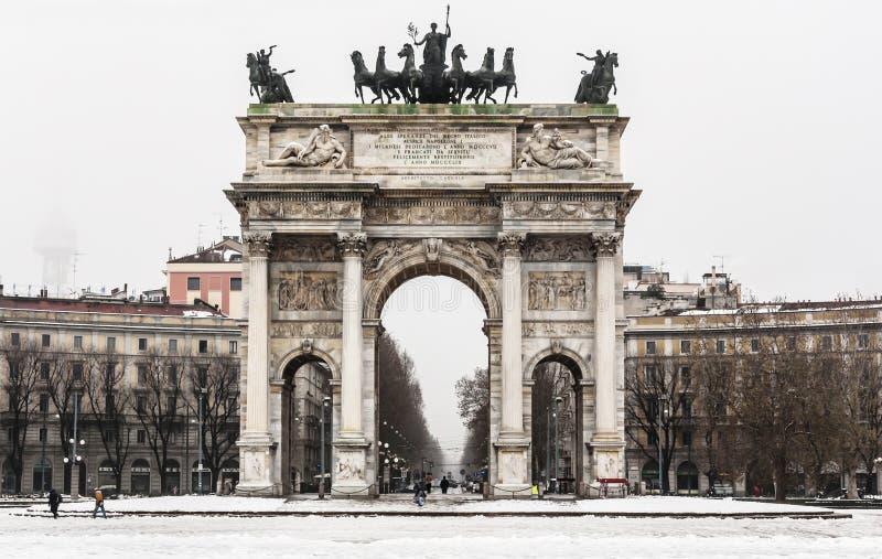 Arco della Pace stock image