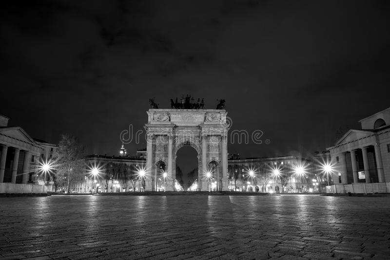 Arco della Pace monochrome royalty free stock photography