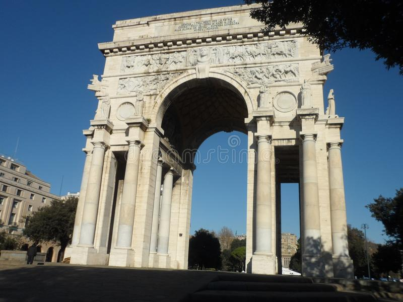 Arco della Vittoria in Genoa Italy royalty-vrije stock afbeelding