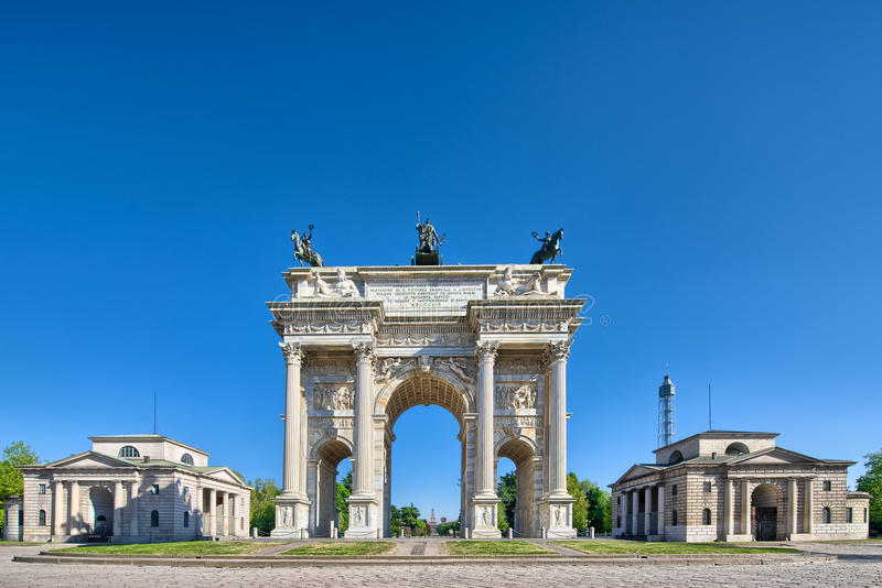 Arco dellahastighet Milan royaltyfri fotografi