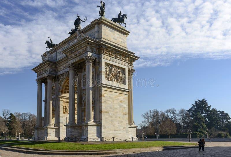 Arco dellatempo, Milaan royalty-vrije stock foto