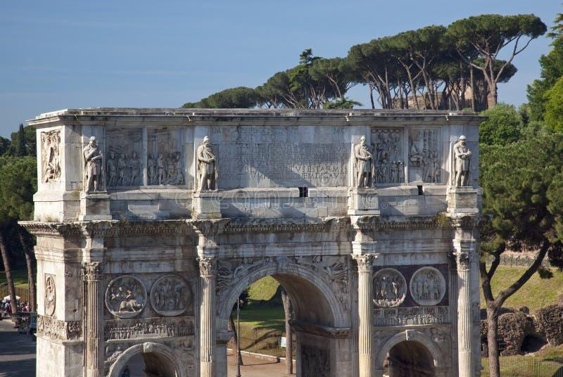Arco di Constantine da Colosseum Roma Italia immagine stock libera da diritti