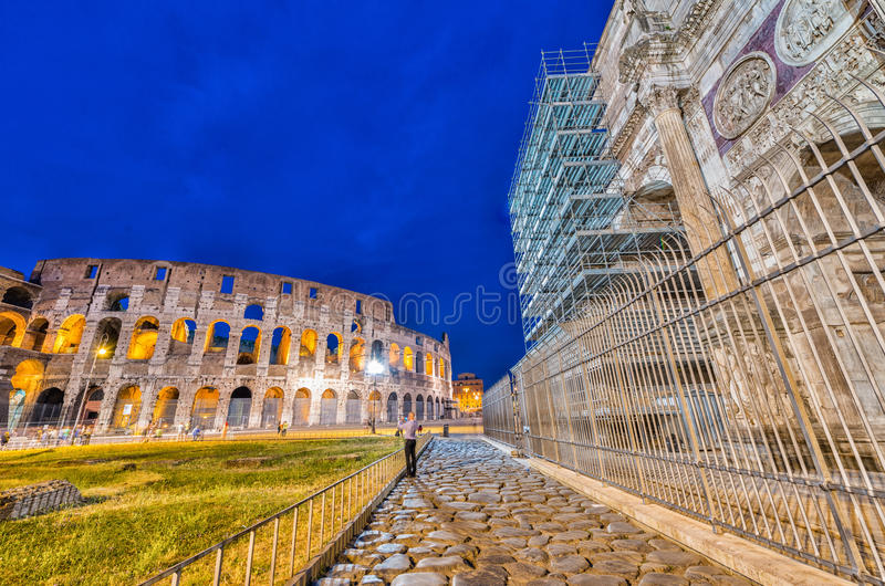 Arco di Costantino - Costantine's Arc near Colosseum - Roma - It. Aly royalty free stock images