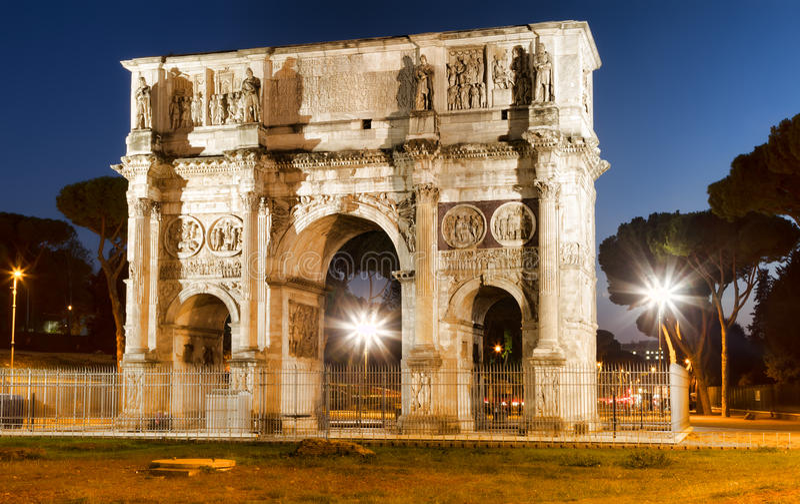 Arco di Costantino in night. (Constantin's Arc) Roma (Rome) Italy stock image