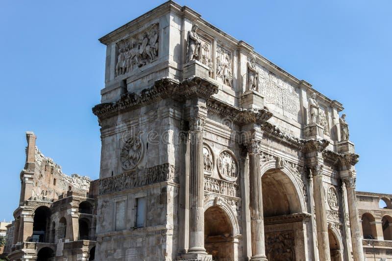 Arco di Costantino in rome. Monument of Arco di Costantino in rome royalty free stock photo