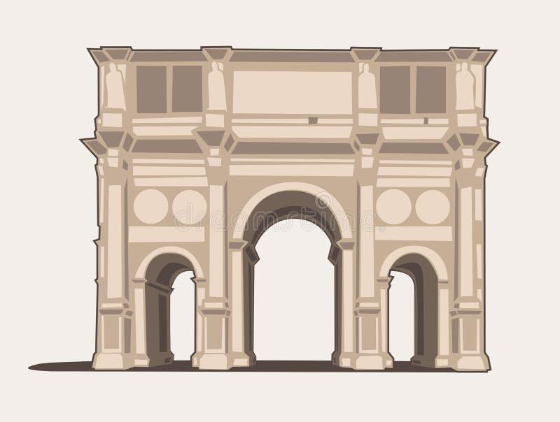 Arco di Costantino. Vector Illustration of the Arco di Costantino royalty free illustration