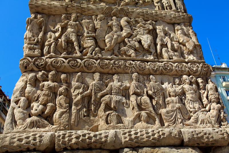 Arco di Galerius, Salonicco immagine stock libera da diritti