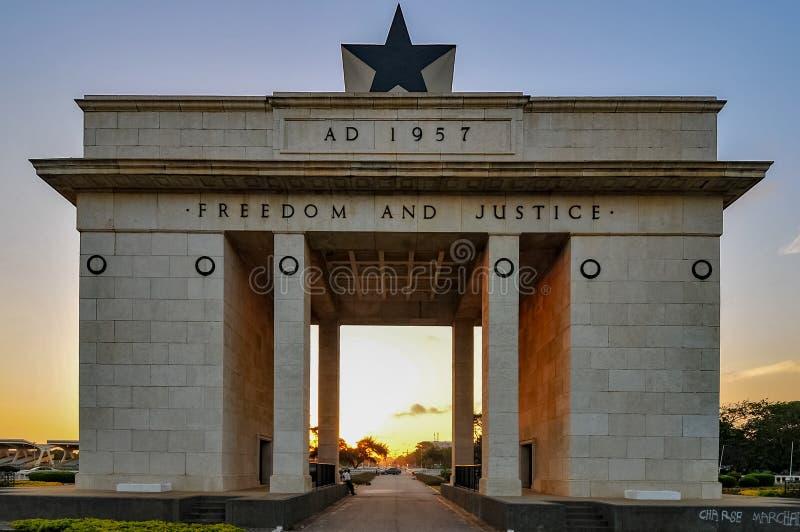 Arco di indipendenza - Accra, Ghana fotografie stock libere da diritti
