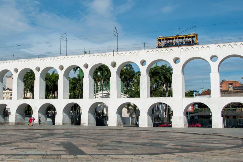 Arco di Lapa, Rio de Janeiro, Brasile immagini stock libere da diritti