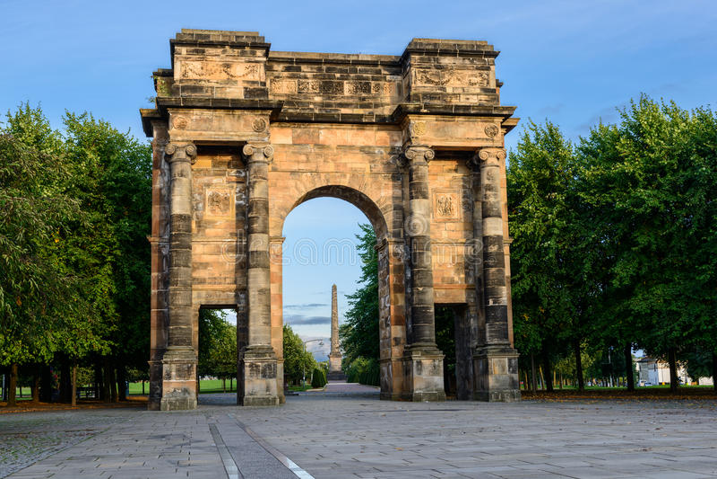 Arco di McLennan, Glasgow fotografia stock