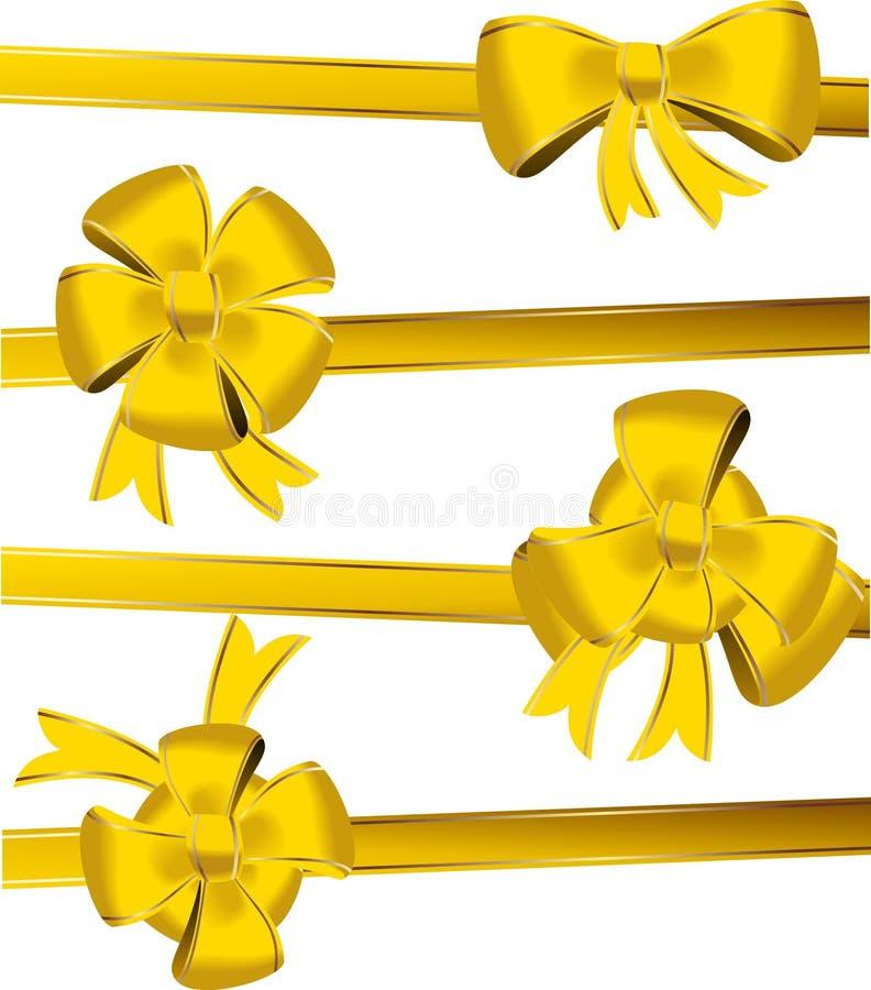 Arco di natale dell'oro illustrazione di stock