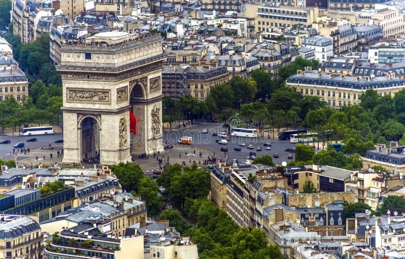 Arco di Parigi Triumph fotografie stock