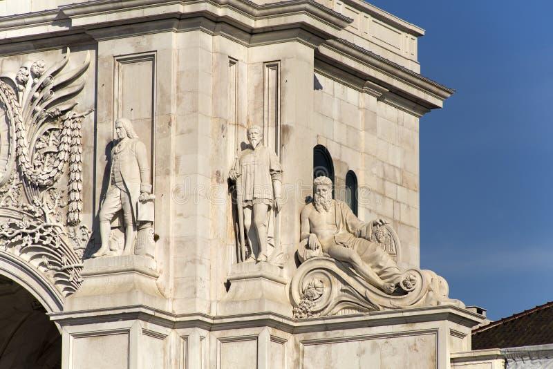 Arco di Rua Augusta immagine stock libera da diritti