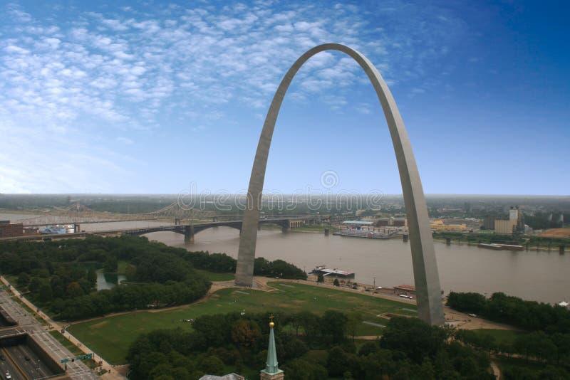 Arco di St. Louis - il Jefferson fotografia stock