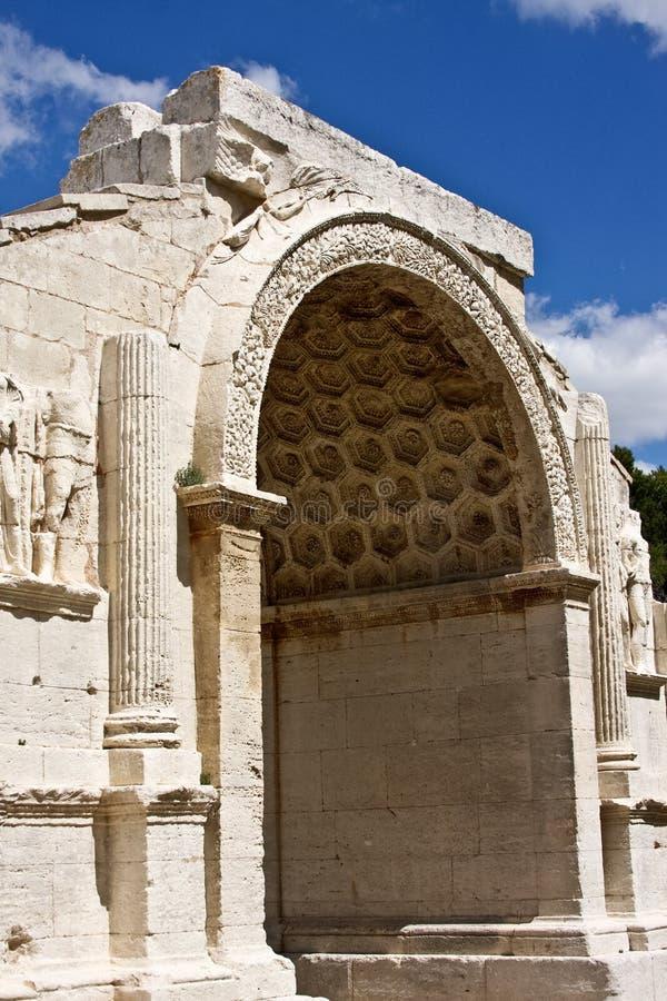 Arco di Triomphal a Glanum immagine stock libera da diritti