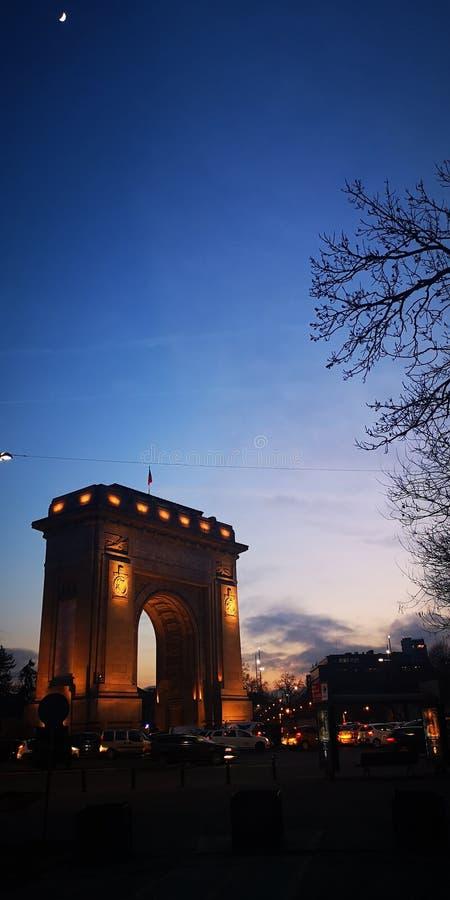 Arco di Triumph dalla Romania fotografie stock libere da diritti