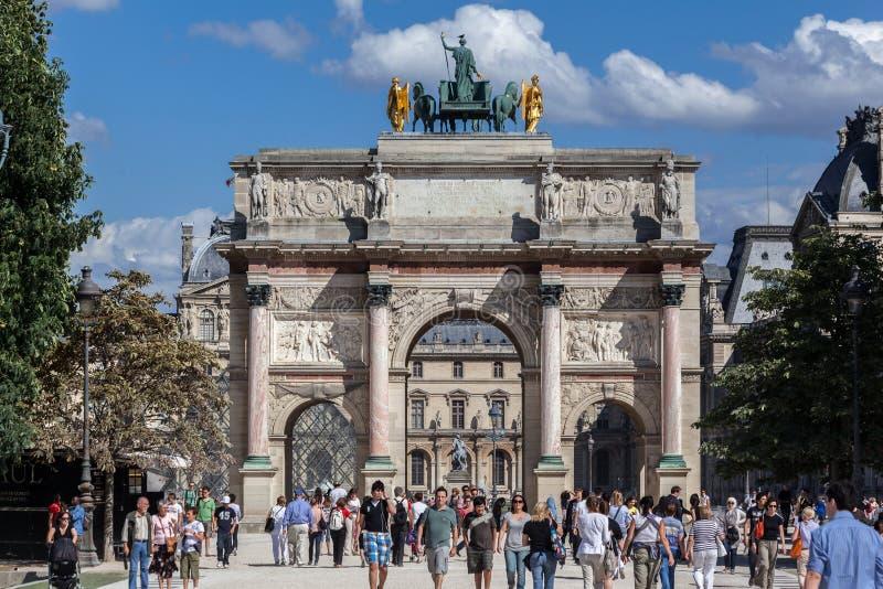 Arco di Triumph del carosello Parigi Francia fotografia stock