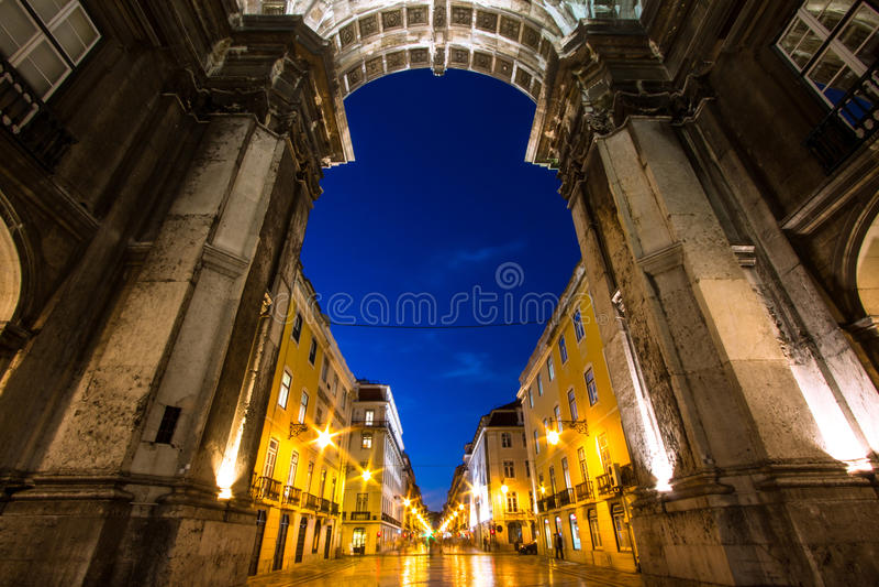 Arco di Triumph a Lisbona fotografia stock libera da diritti