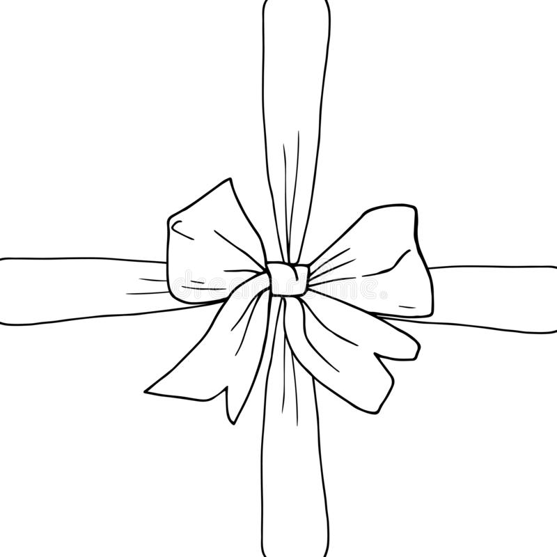 Arco dibujado mano, cinta imagen de archivo libre de regalías