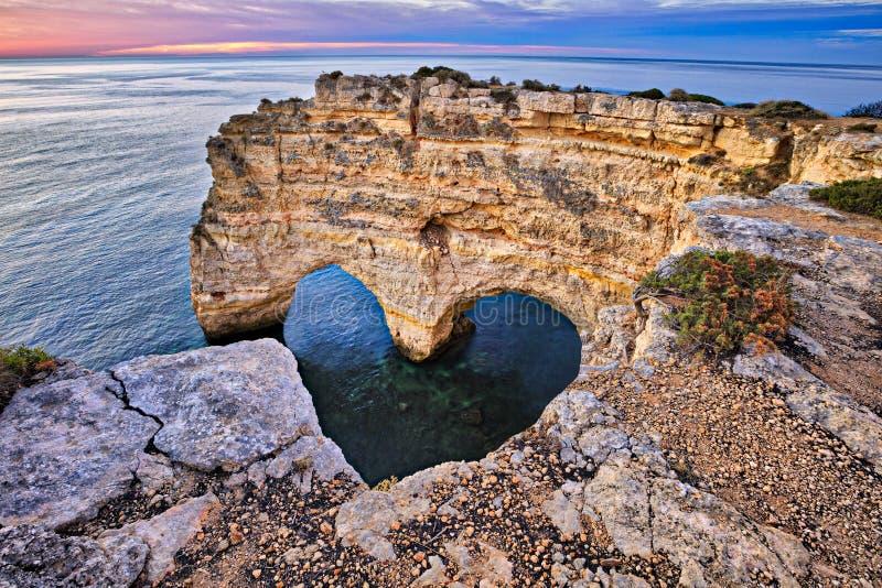Arco do coração fotografia de stock royalty free